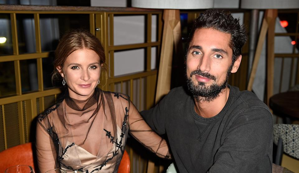 Millie Mackintosh and Hugo Taylor shared their gender reveal. (Photo by David M. Benett/Dave Benett/Getty Images)