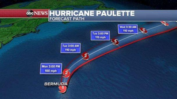 PHOTO: After this morning, Paulette will move quickly away from the island of Bermuda and not threaten any land. (ABC News)