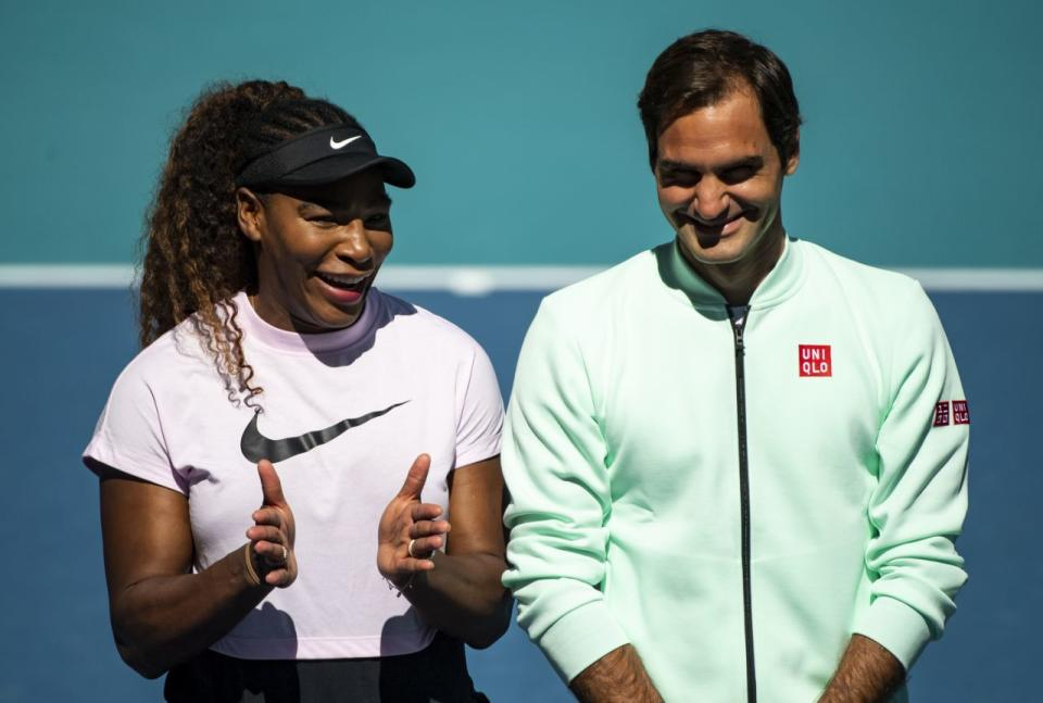Pictured here, Serena Williams and Roger Federer.