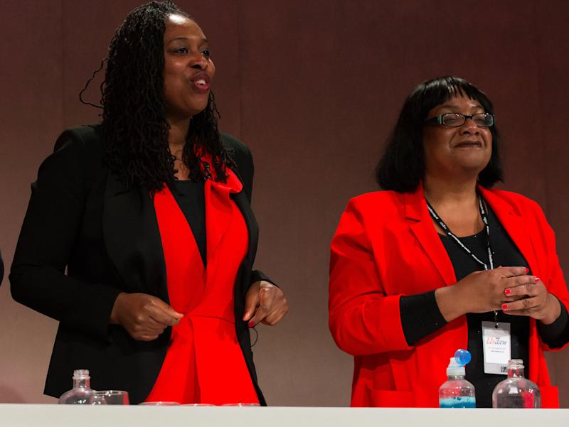 Dawn Butler and Diane Abbott at Labour's Women's Conference in the Telford International Centre. (Photo: PA Wire/PA Images)