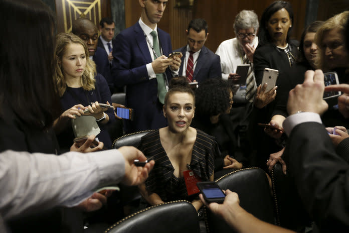 #MeToo Advocate Alyssa Milano Attends Kavanaugh-Ford Hearing