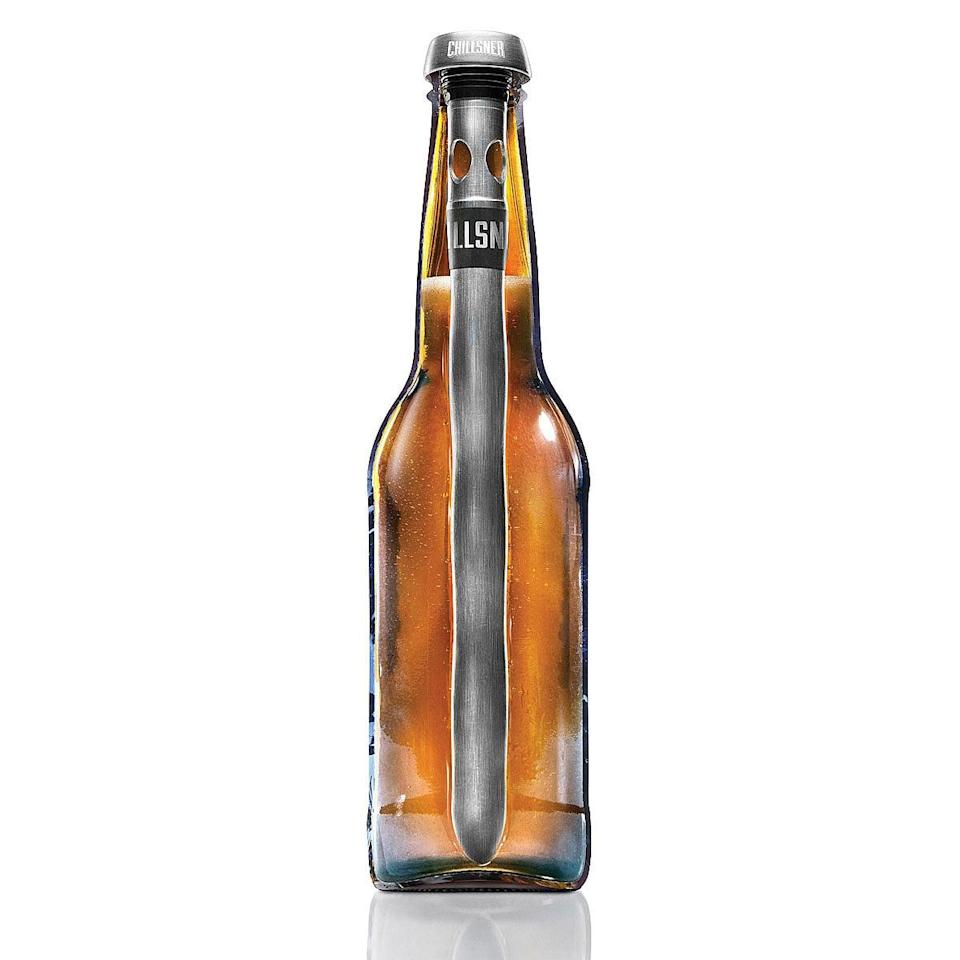<p>This cool <span>Chillsner</span> ($17) keeps cold drinks cold. </p>