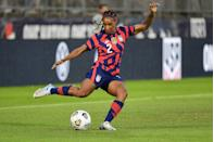"""<p><strong>Sport: </strong>Soccer </p><p>Dunn earned the 2012 NCAA Championship while at UNC and was named the country's best collegiate soccer star with the Hermann Trophy. Fresh into her professional career, Dunn was the first overall pick in the 2014 NWSL Draft. She's since become <a href=""""https://crystaldunnsoccer.com/about/"""" rel=""""nofollow noopener"""" target=""""_blank"""" data-ylk=""""slk:the youngest player"""" class=""""link rapid-noclick-resp"""">the youngest player</a> to be named league MVP and was a part of the FIFA World Cup winning Women's National Team in 2019. Tokyo is her second Olympic Games. </p>"""