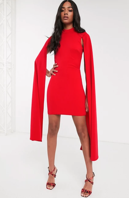 red cape dress from ASOS