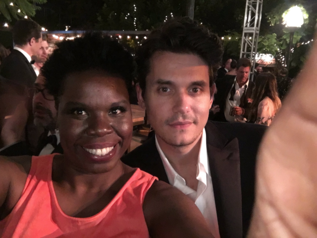 "<p>""He said he had s gonna write a song about me,"" Jones tweeted of her pic with singer John Mayer. ""I think he should have sex with me instead am I wrong?"" Yes, Leslie — just ask Jessica Simpson, Katy Perry, and your pal Taylor Swift! But kudos for a great pic — and a hilarious caption. (Photo: <a href=""https://twitter.com/Lesdoggg/status/777816890752180224"" rel=""nofollow noopener"" target=""_blank"" data-ylk=""slk:Leslie Jones via Twitter"" class=""link rapid-noclick-resp"">Leslie Jones via Twitter</a>) </p>"