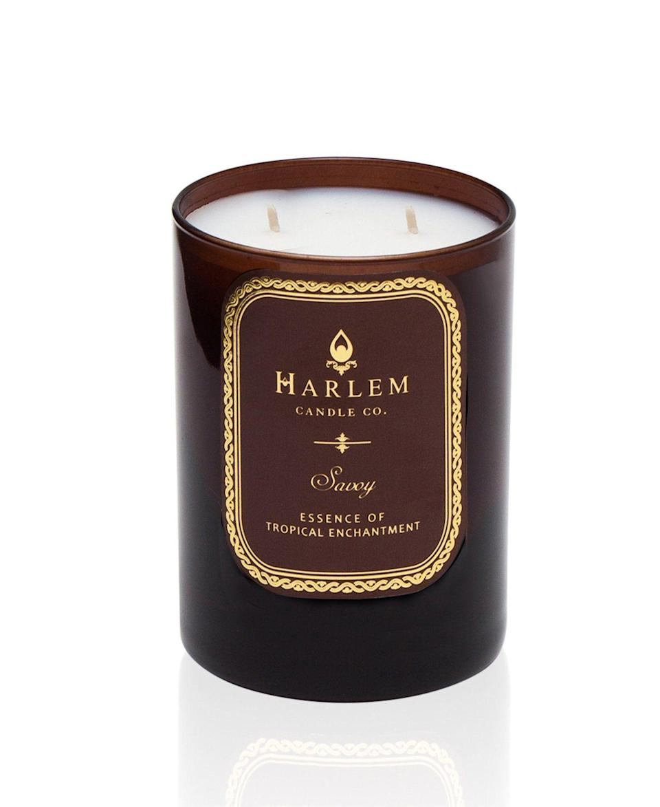 """<p><strong>harlem candle company</strong></p><p>harlemcandlecompany.com</p><p><strong>$45.00</strong></p><p><a href=""""https://www.harlemcandlecompany.com/collections/entire-collection/products/savoy-luxury-candle-large-12oz"""" rel=""""nofollow noopener"""" target=""""_blank"""" data-ylk=""""slk:Shop Now"""" class=""""link rapid-noclick-resp"""">Shop Now</a></p><p>I'm gonna go ahead and apologize right now because you are going to want to buy all of Harlem Candle Co.'s scents. Start with this one that is inspired by Harlem's glamorous Savoy Ballroom.</p>"""