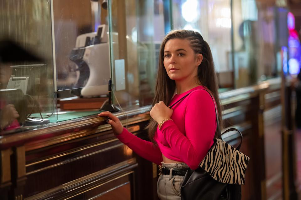 Katherine Rose Morley as Keeley in The Syndicate. (BBC/Rollem Productions)