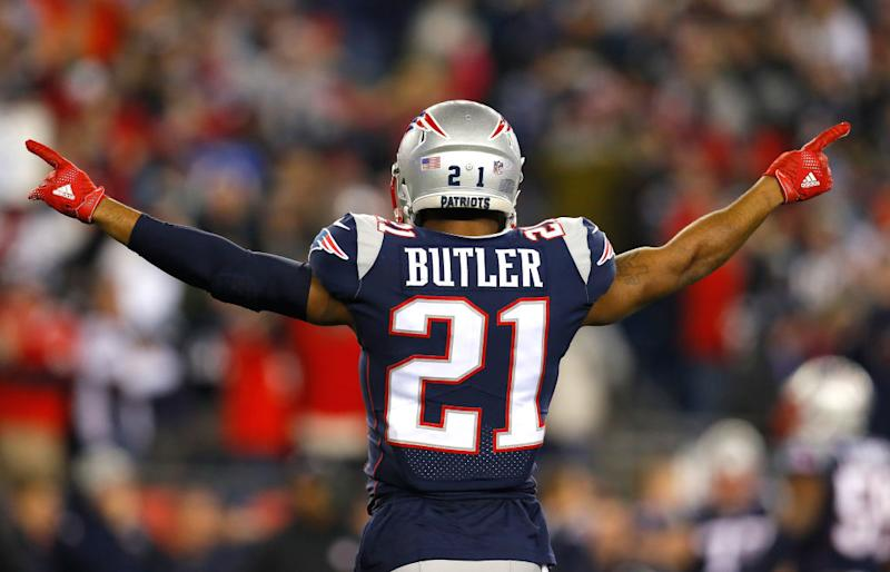 Current Titan Malcolm Butler in his Patriots days. More