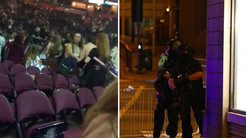 The blast sent panic through Manchester Arena, with thousands seen fleeing the venue. Source: Facebook