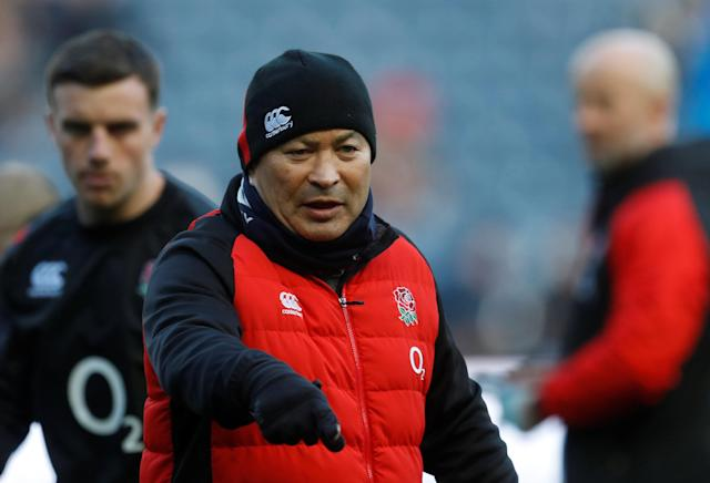 Rugby Union - Six Nations Championship - Scotland vs England - BT Murrayfield Stadium, Edinburgh, Britain - February 24, 2018 England head coach Eddie Jones during the warm up before the match REUTERS/Russell Cheyne