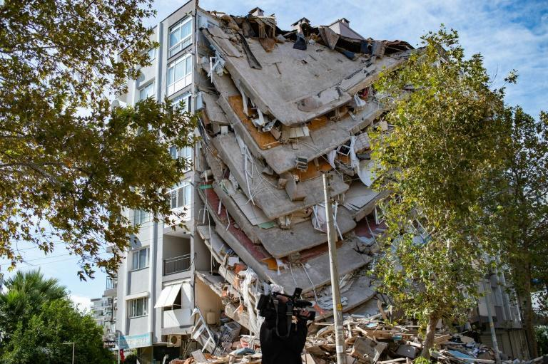 The quake has destroyed dozens of buildings, leaving many homeless