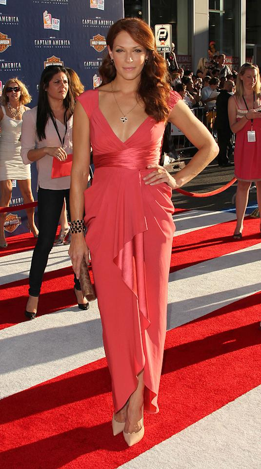 "<a href=""http://movies.yahoo.com/movie/contributor/1809610986"">Amanda Righetti</a> at the Los Angeles premiere of <a href=""http://movies.yahoo.com/movie/1810026349/info"">Captain America: The First Avenger</a> on July 19, 2011."