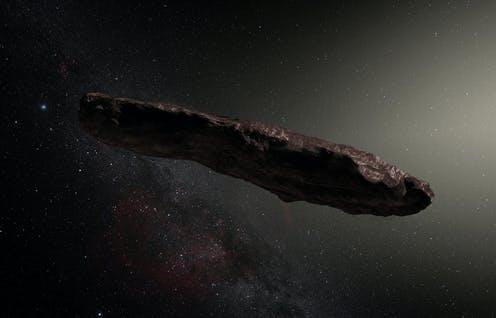 Artist's impression of 'Oumuamua. ESO/M. Kornmesser , CC BY-SA