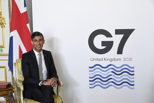 Chancellor Rishi Sunak chaired the two day G7 finance ministers meeting