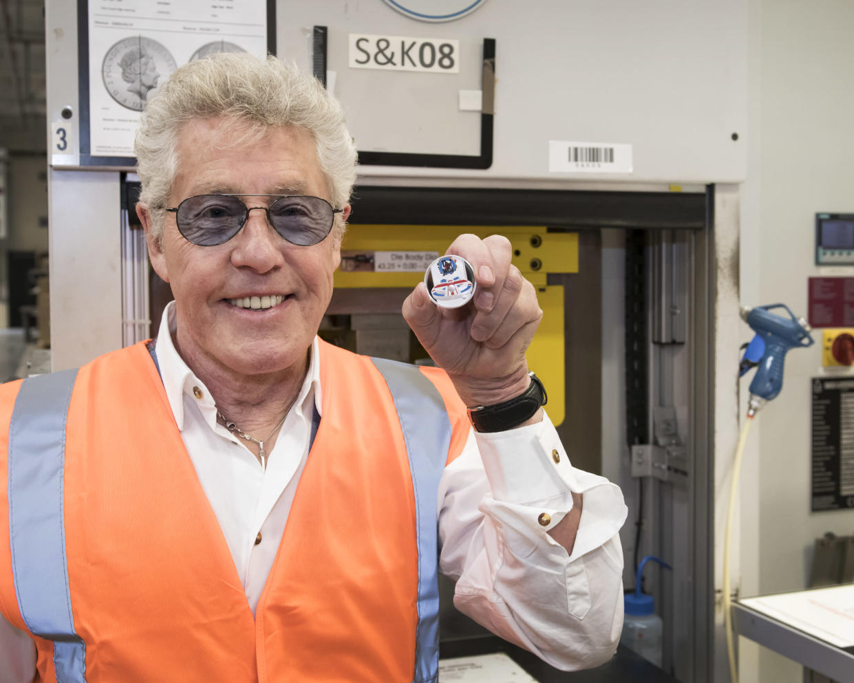 Roger Daltrey visited the Mint to mark the new collection. (Royal Mint)