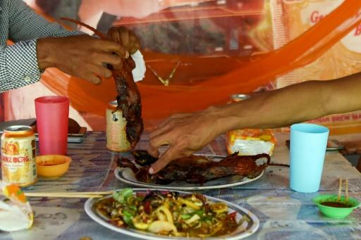 In Cambodia, grilled field rats are served with dipping sauces made from lime juice, black peppers, or chilies