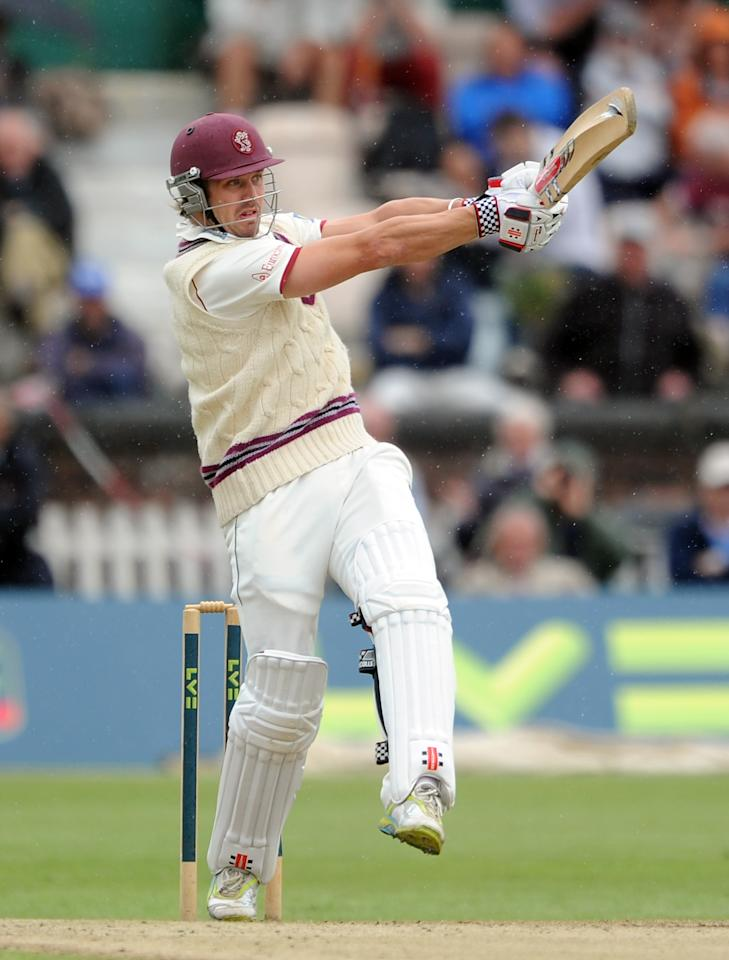 LIVERPOOL, ENGLAND - AUGUST 02:  Nick Compton of Somerset bats during the LV County Championship match between Lancashire and Somerset at Liverpool Cricket Club on August 2, 2012 in Liverpool, England.  (Photo by Chris Brunskill/Getty Images)