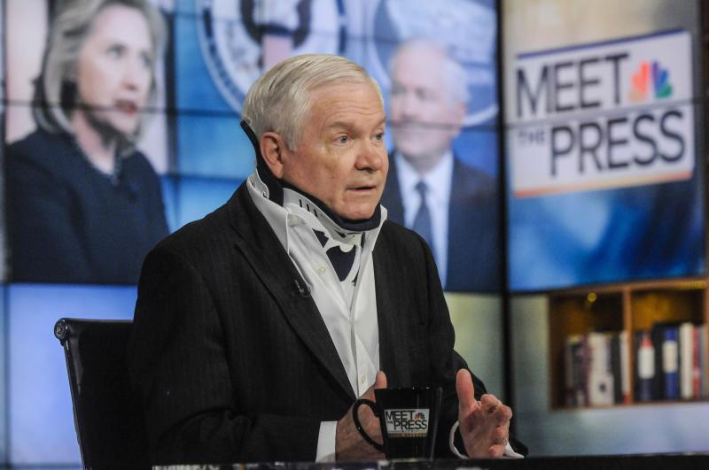 "Robert Gates, former secretary of defense, appears on ""Meet the Press"" in Washington"