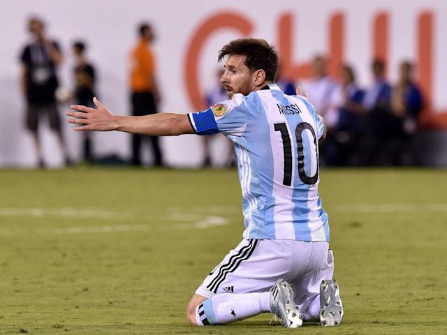 Lionel Messi during the Copa America final against Chile (Getty)