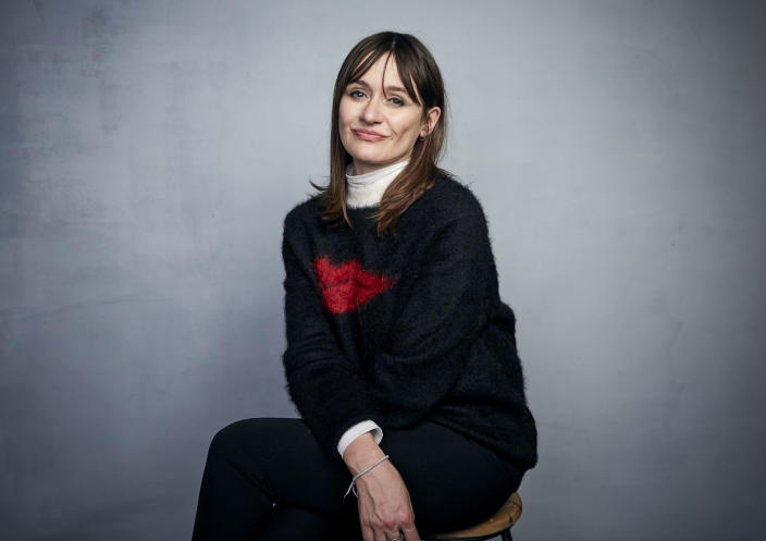 """FILE - Emily Mortimer poses for a portrait to promote the film """"Relic"""" during the Sundance Film Festival on Jan. 25, 2020, in Park City, Utah. Mortimer turns 49 on Oct. 6. (Photo by Taylor Jewell/Invision/AP, File)"""