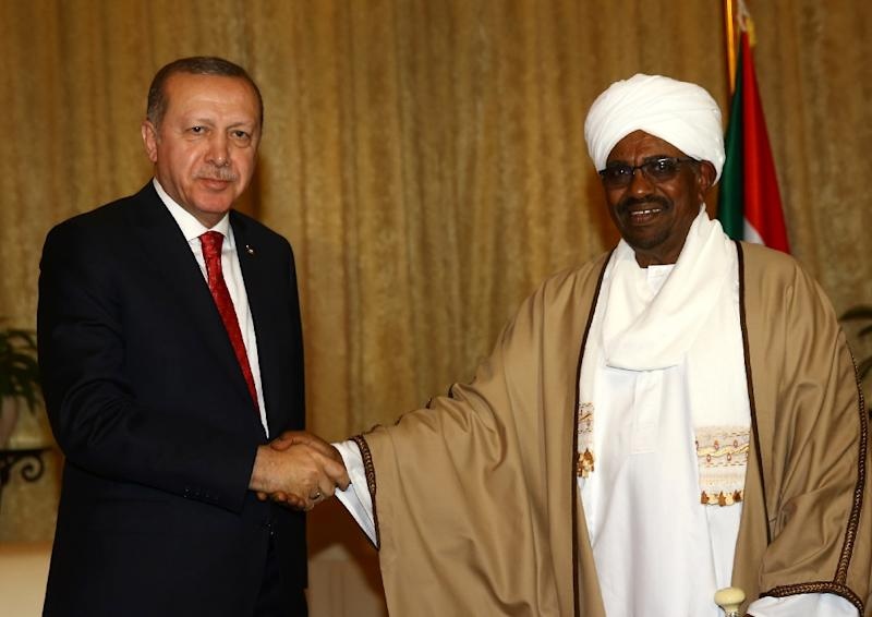 "President Erdogan visited Omar al-Bashir in Khartoum in December 2017 and welcomed him several times to Turkey -- but said he hoped Sudan would move ""towards a normal democratic process"" following the 75-year-old's removal from office"