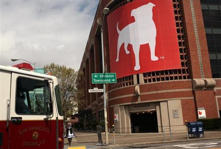 The corporate logo of Zynga Inc, the social network game development company, is shown at its headquarters in San Francisco