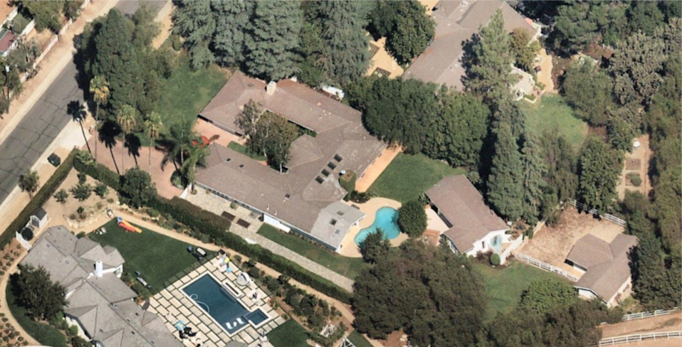 An aerial view of the equestrian compound that Simon Cowell just sold.