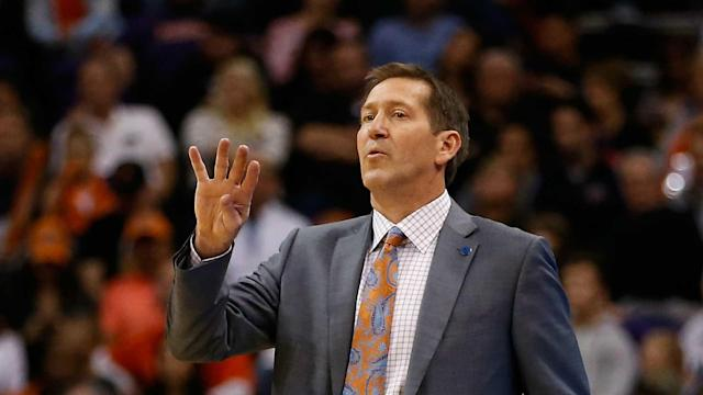 Coach Jeff Hornacek has one year to go on his current contract with the Knicks, but rumors are floating that he won' be back for 2018-19.