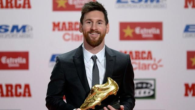 Barcelona's Lionel Messi is set to be awarded a fifth Golden Shoe as he finished as the top scorer in European leagues once again. The Argentine amassed 34 goals in La Liga, which was the highest by any player in one's respective leagues. He also won the Pichichi Trophy in Spain for being top scorer in the Primera Division. Here's more about it.