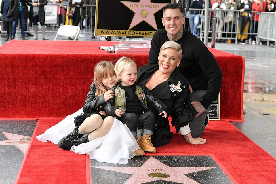 """<p>This next singer is a rockstar and a rocking mom.</p> <p><a href=""""https://people.com/tag/pink/"""" rel=""""nofollow noopener"""" target=""""_blank"""" data-ylk=""""slk:Pink"""" class=""""link rapid-noclick-resp"""">Pink</a> shares daughter Willow, 9, and son Jameson, 4, with husband Carey Hart. The """"So What"""" singer graced the cover of <a href=""""https://people.com/parents/pink-daughter-son-people-beautiful-issue-cover/"""" rel=""""nofollow noopener"""" target=""""_blank"""" data-ylk=""""slk:PEOPLE's Beautiful Issue"""" class=""""link rapid-noclick-resp"""">PEOPLE's Beautiful Issue</a> in 2018 and talked about how her parenting style is different from how her parents raised her.</p> <p>""""Yeah, I believe in affection,"""" she said. """"I believe in needs being met and faith being implemented, and I <a href=""""https://people.com/babies/pinks-dating-advice-for-daughter-willow/"""" rel=""""nofollow noopener"""" target=""""_blank"""" data-ylk=""""slk:believe in letting your kids know"""" class=""""link rapid-noclick-resp"""">believe in letting your kids know</a> they can count on you, and that you'll be there. My parents obviously did not believe in that and I worked out okay. I always tell Willow, '''m going to teach you the rules so that you'll know how and when to break them.'""""</p>"""