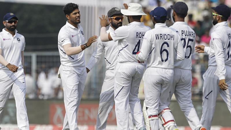 India have thumped Bangladesh in their maiden pink-ball Test to sweep their home series 2-0
