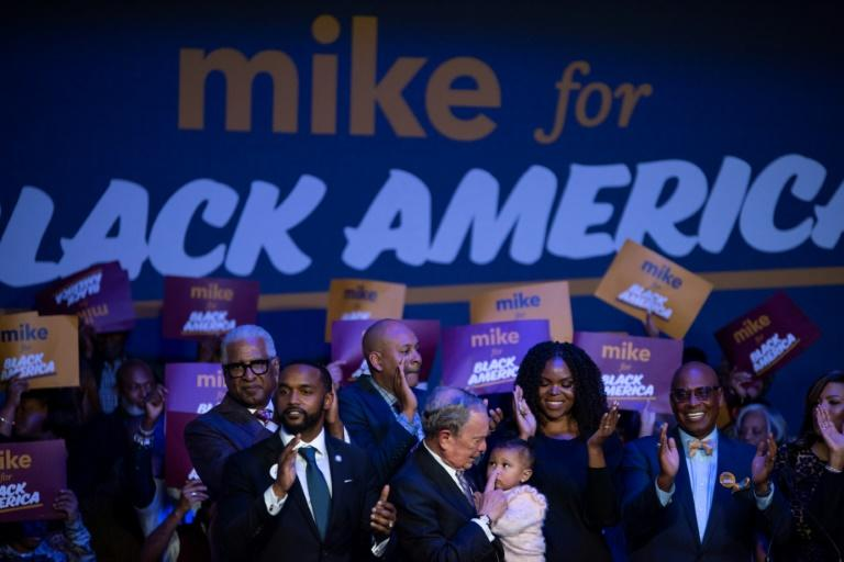 Former New York mayor Michael Bloomberg is hoping to rally the all-important black vote (AFP Photo/Mark Felix)
