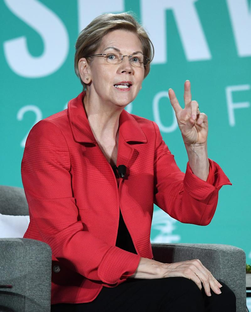 Democratic presidential candidate and U.S. Sen. Elizabeth Warren (D-MA) speaks during the 2020 Public Service Forum hosted by the American Federation of State, County and Municipal Employees (AFSCME) at UNLV on August 3, 2019 in Las Vegas, Nevada.