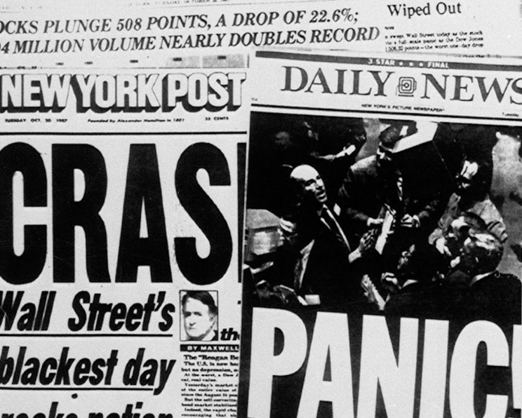The Dow plunged nearly 23%, on Monday, Oct. 19, 1987. (AP Photo/File)