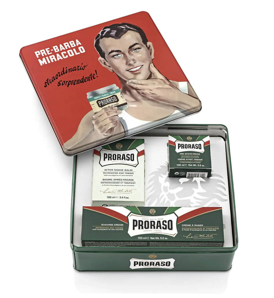 best fathers day gifts, proraso Vintage Gino Tin Set