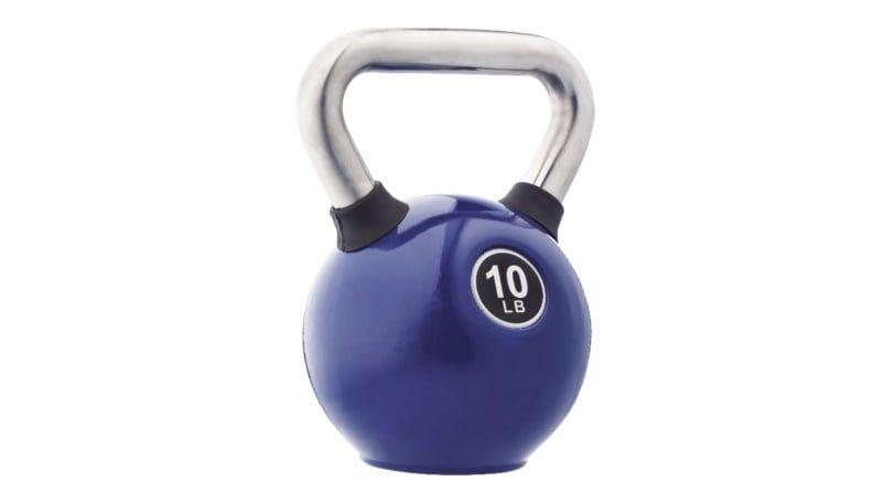 Kettlebells are a great alternative to dumbbells.