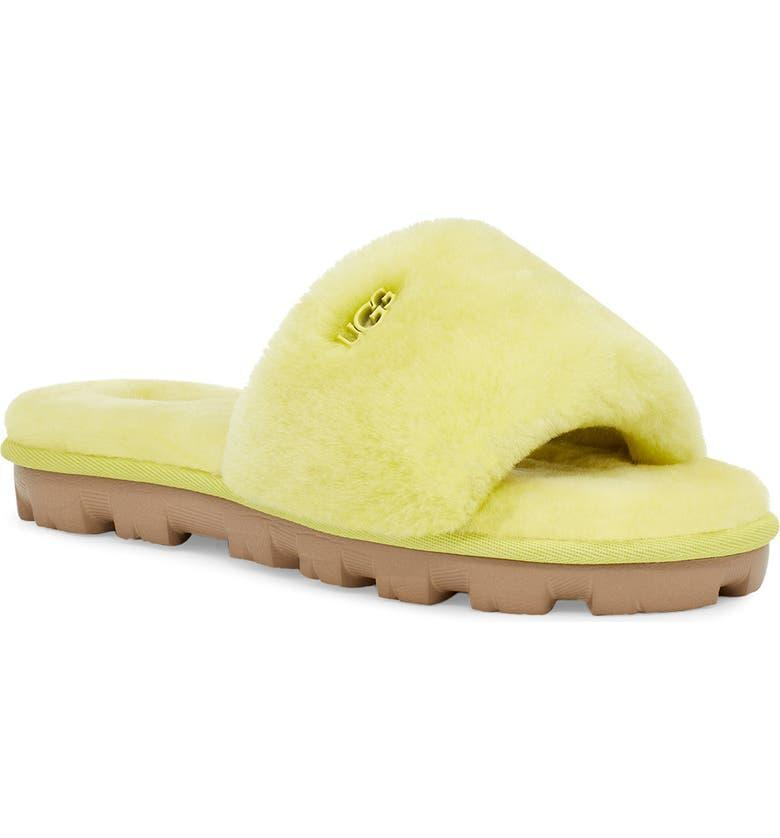 """<h2>UGG Cozette Genuine Shearling Slipper</h2><br><strong>NEXT-BEST DEAL</strong><br>These cozy and bright slides are what summer slumber dreams are made of.<br><br><em>Shop more <a href=""""https://go.skimresources.com/?id=30283X879131&xs=1&url=https%3A%2F%2Fwww.nordstrom.com%2Fbrowse%2Fanniversary-sale%2Fall%3Fcampaign%3D0728publicgnpt1%26jid%3Dj012165-15573%26cid%3D00000%26cm_sp%3Dmerch-_-anniversary_15573_j012165-_-catpromo_corp_persnav_shop%26%3D%26postalCodeAvailability%3D10543%26filterByProductType%3Dshoes_slippers&sref=https%3A%2F%2Fwww.refinery29.com%2Fen-us%2Fnordstrom-anniversary-sale-best-sellers"""" rel=""""nofollow noopener"""" target=""""_blank"""" data-ylk=""""slk:Nordstrom Anniversary Sale slippers"""" class=""""link rapid-noclick-resp"""">Nordstrom Anniversary Sale slippers</a></em><br><br><strong>Ugg</strong> Cozette Genuine Shearling Slipper, $, available at <a href=""""https://go.skimresources.com/?id=30283X879131&url=https%3A%2F%2Fwww.nordstrom.com%2Fs%2Fugg-cozette-genuine-shearling-slipper-women%2F5020345"""" rel=""""nofollow noopener"""" target=""""_blank"""" data-ylk=""""slk:Nordstrom"""" class=""""link rapid-noclick-resp"""">Nordstrom</a>"""