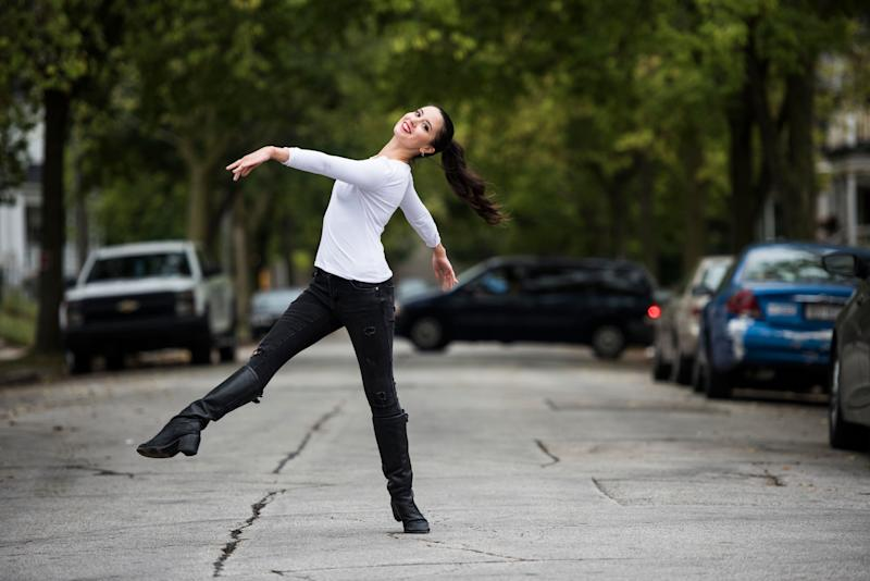 Alana Griffith of the Milwaukee Ballet shows off her dance moves.