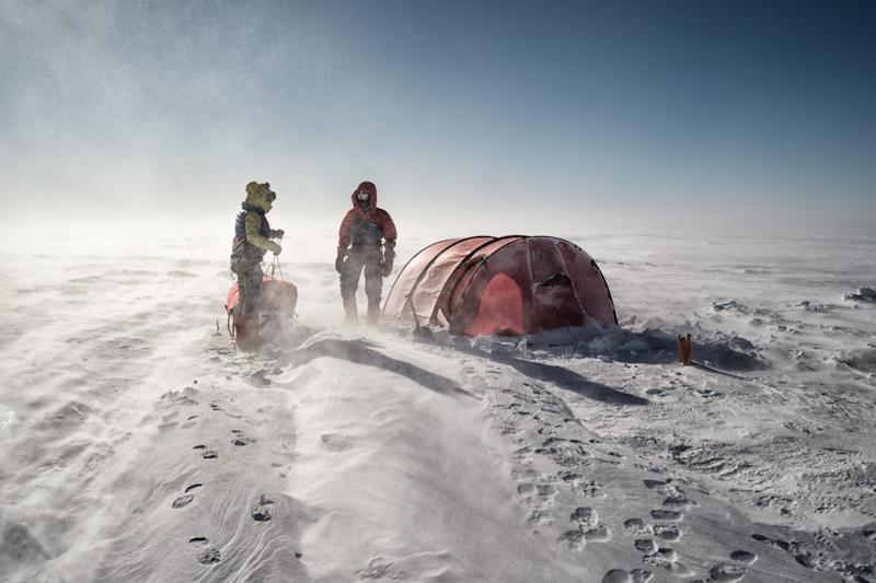 Leo said his team faced 'instant frostbite' during parts of their extreme trip. (SWNS)