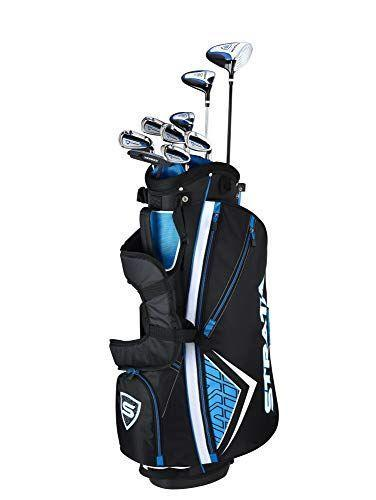 """<p><strong>Callaway</strong></p><p>amazon.com</p><p><strong>$368.99</strong></p><p><a href=""""https://www.amazon.com/dp/B07H29Z4Y2?tag=syn-yahoo-20&ascsubtag=%5Bartid%7C2139.g.37065486%5Bsrc%7Cyahoo-us"""" rel=""""nofollow noopener"""" target=""""_blank"""" data-ylk=""""slk:Shop Now"""" class=""""link rapid-noclick-resp"""">Shop Now</a></p><p>This Callaway Strata set is the number 1 best-seller on Amazon. The 12-piece set includes: a driver, 3 wood, 5 hybrid, 6 - 9 iron, a pitching wedge, a putter, a stand bag and 2 head covers. (There's also a 16-piece set available.) A solid set to get you started on the green.<br></p>"""
