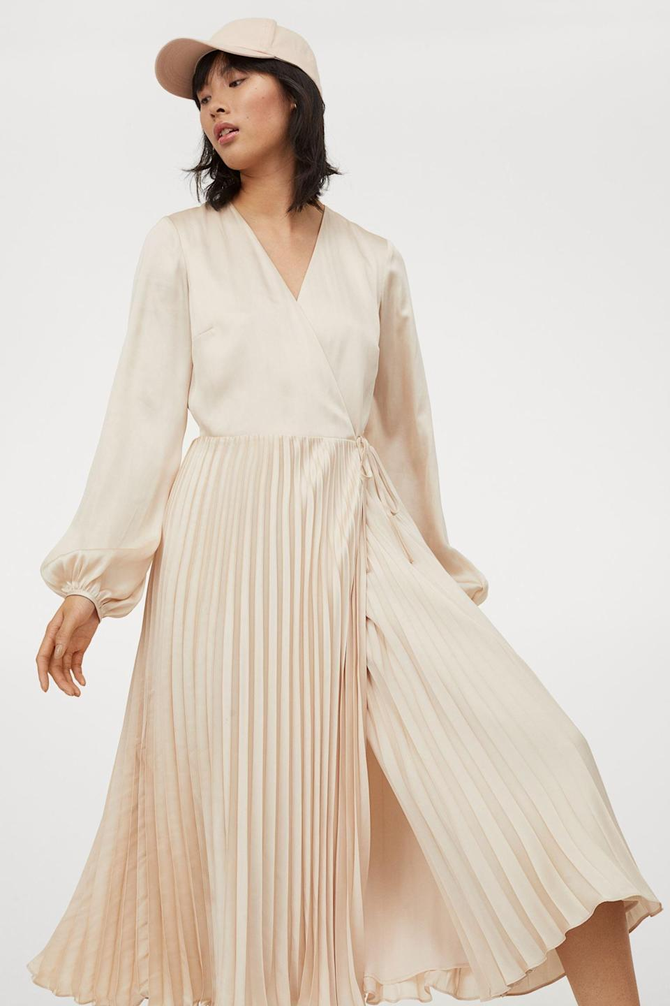 <p>Put your best foot forward in this <span>H&amp;M Pleated Wrap Dress</span> ($70).</p>