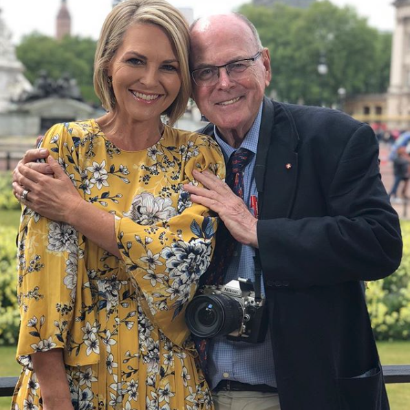 <p>Bright is the way to go! Georgie wore this yellow dress for a different segment, and it's clear florals are a fashion staple in the TV star's wardrobe. <br />Source: Instagram/georgiegardner9 </p>
