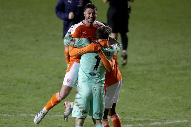 Blackpool beat West Brom on penalties in the sides' third-round meeting in January, without a replay