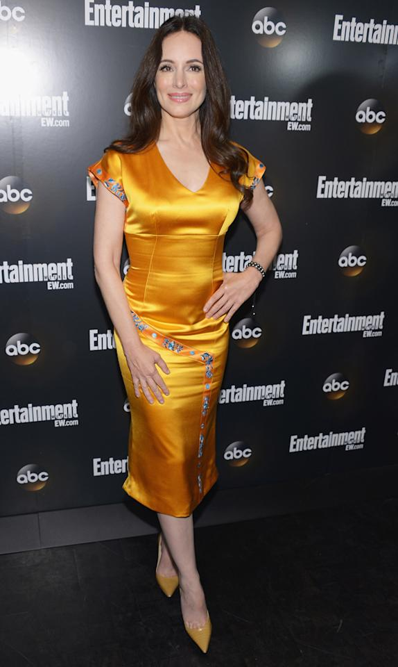 "Madeleine Stowe (""Revenge"") attends the Entertainment Weekly and ABC Upfront VIP Party at Dream Downtown on May 15, 2012 in New York City."