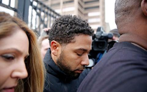 Jussie Smollett leaving Cook County jail - Credit:  Nuccio DiNuzzo