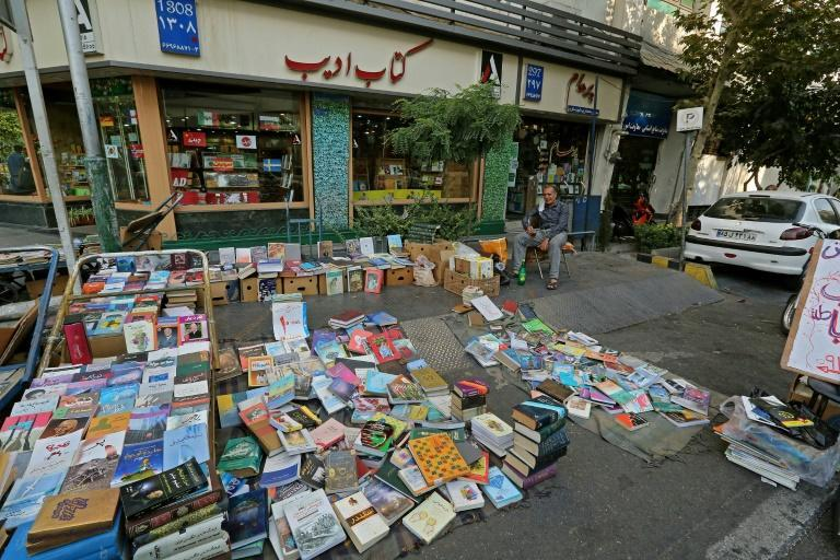Bookstores stacked with Iranian and foreign titles translated into Persian line both Karim Khan and Enqelab streets in the capital Tehran