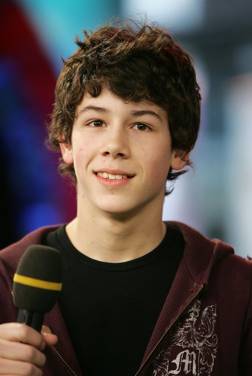 This is how old Nick Jonas, pictured in 2006, was when the media started reporting on his sex life. (Photo: Scott Gries/Getty Images)