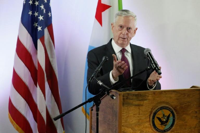 U.S. Defense Secretary James Mattis urges France to continue the fight against terror in Africa as he visits strategic Djibouti
