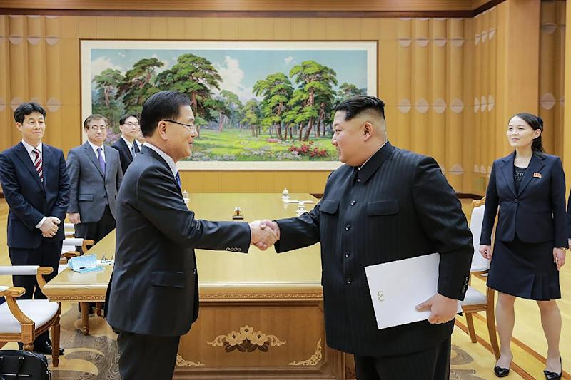 Kim Jong-Un's meeting with the most senior South Koreans to travel to the North in more than a decade is the latest step in an Olympics-driven rapprochement