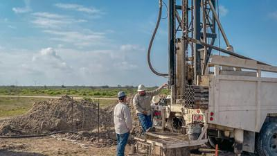UEC contracted exploration rig drilling down in preparation for retrieving a core sample.    Burke Hollow's initial production area is amongst the largest uranium ISR wellfields ever developed in the 45-year history of uranium mining in South Texas. Strategic timing for the development of Burke Hollow with the backdrop of Bi-Partisan Support – First Time in 48 years Democratic Party Supports Nuclear Energy White House Clean Energy Mandate – Nuclear Energy Welcomed & Included in the Plan (CNW Group/Uranium Energy Corp)
